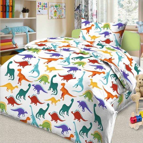 Детское постельное белье с динозаврами, Дино