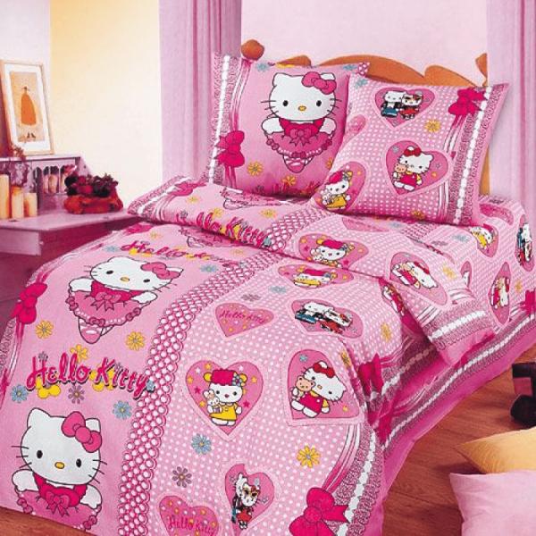 Детское постельное белье для девочки, Хелло Китти