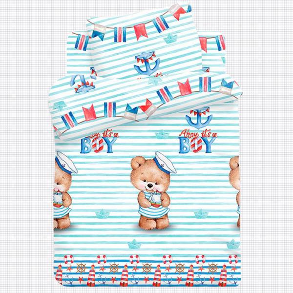 Детское постельное белье, Мишка-Морячок