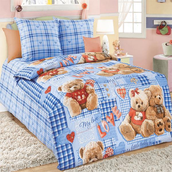 Детский постельный комплект, Мишки-1, бязь