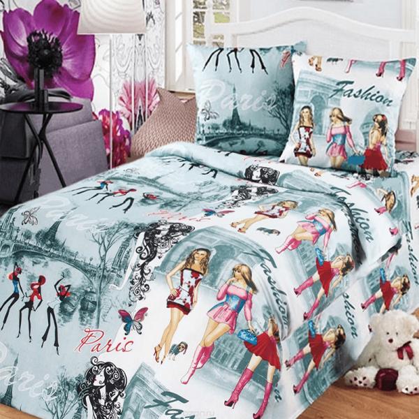 Детский постельный комплект для девочки, Париж