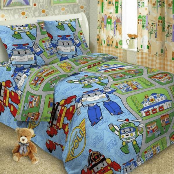 Детское постельное белье, Робокар
