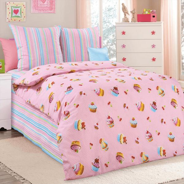 Детское постельное белье для девочки, Сладкоежка